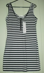 Black and white stripy MINKPINK dress. Size M. Brand New with tag. $25