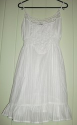White fashion fair Dress. Never been worn but without tag.. Size L. $7