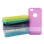 Hot Transparent Type TPU Unique S-line Case for iPhone 5