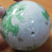 Ceramic Type Ball ,  may have been placed on something