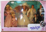 Midge wedding Party plus Wedding Cake.  (New in boxes)