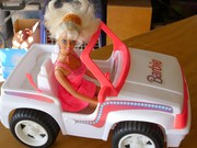 Barbie Car and Barbie doll.  (Pink)