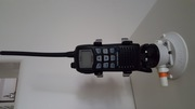 iCom 27 Meg Hand Held Radio   SeaSucker Radio Holder