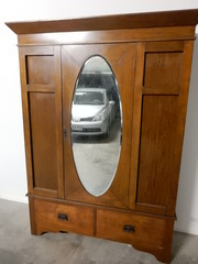 Antique Wardrobe - Solid Queensland Maple