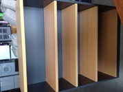 TV low cabinet,  4 shelf bookshelf,  Glass display cabinet.
