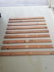 Slets for Queensize bed 1410x90x22-----x9