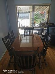 7 Piece Dining Set Solid Timber