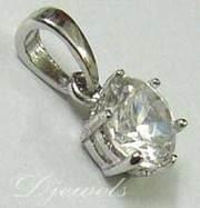 14K White Gold Pendant Diamond Engagement Pendant Diamond Jewelry